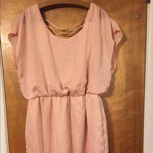 City Studio peach mini dress